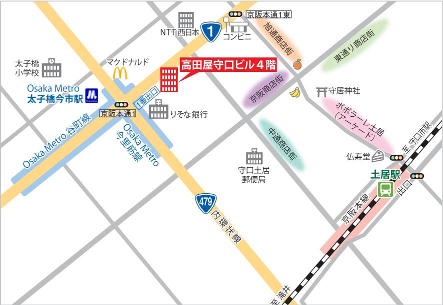 ぷらす守口地図